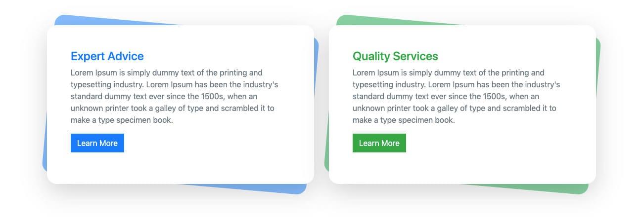 Bootstrap 2 Column Card Design Example