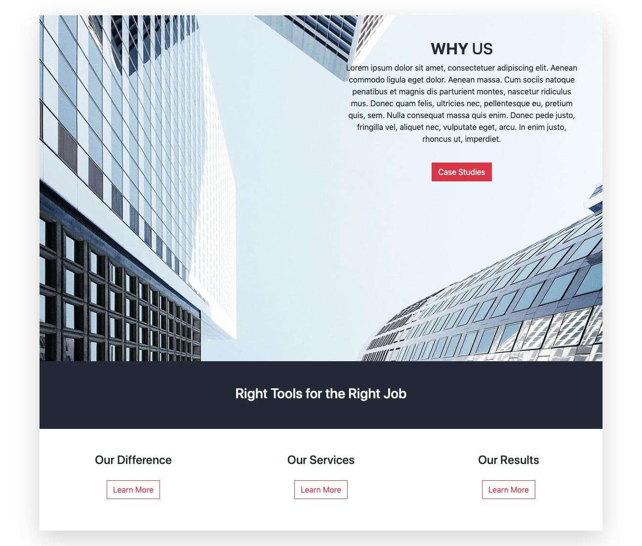 Bootstrap Header Design