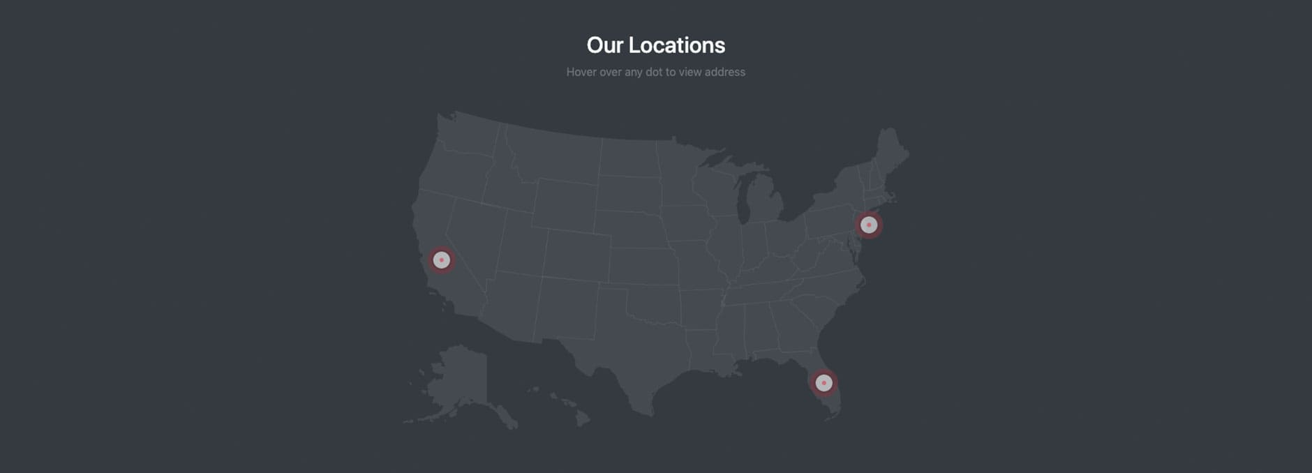Bootstrap Interactive Map