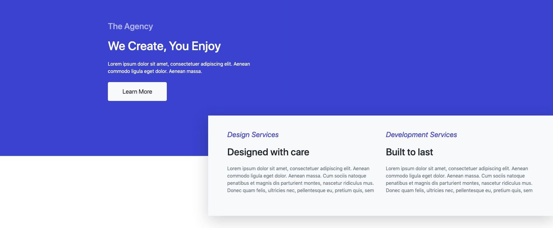 Bootstrap Header Design Example