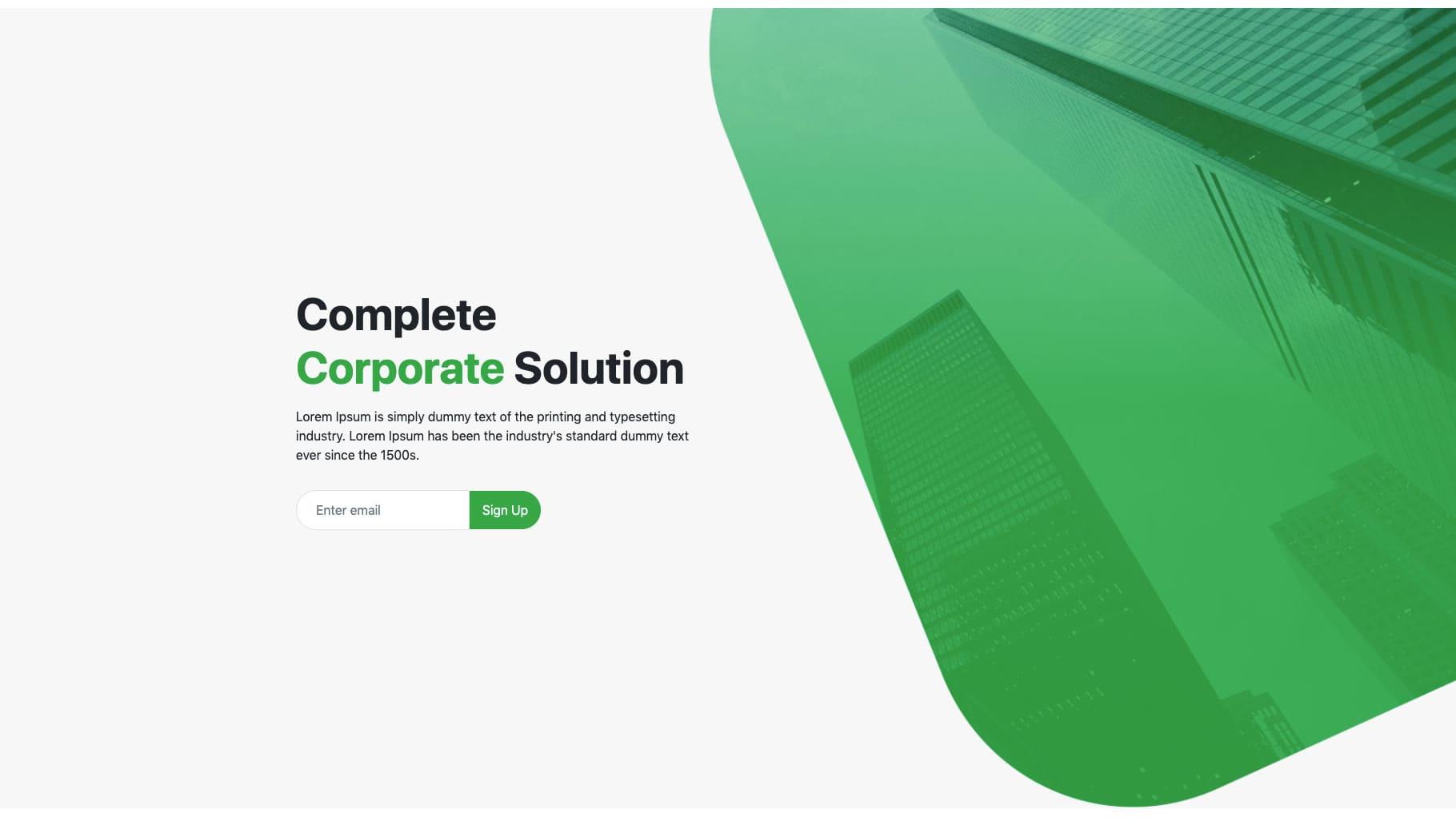 Bootstrap fullscreen header design