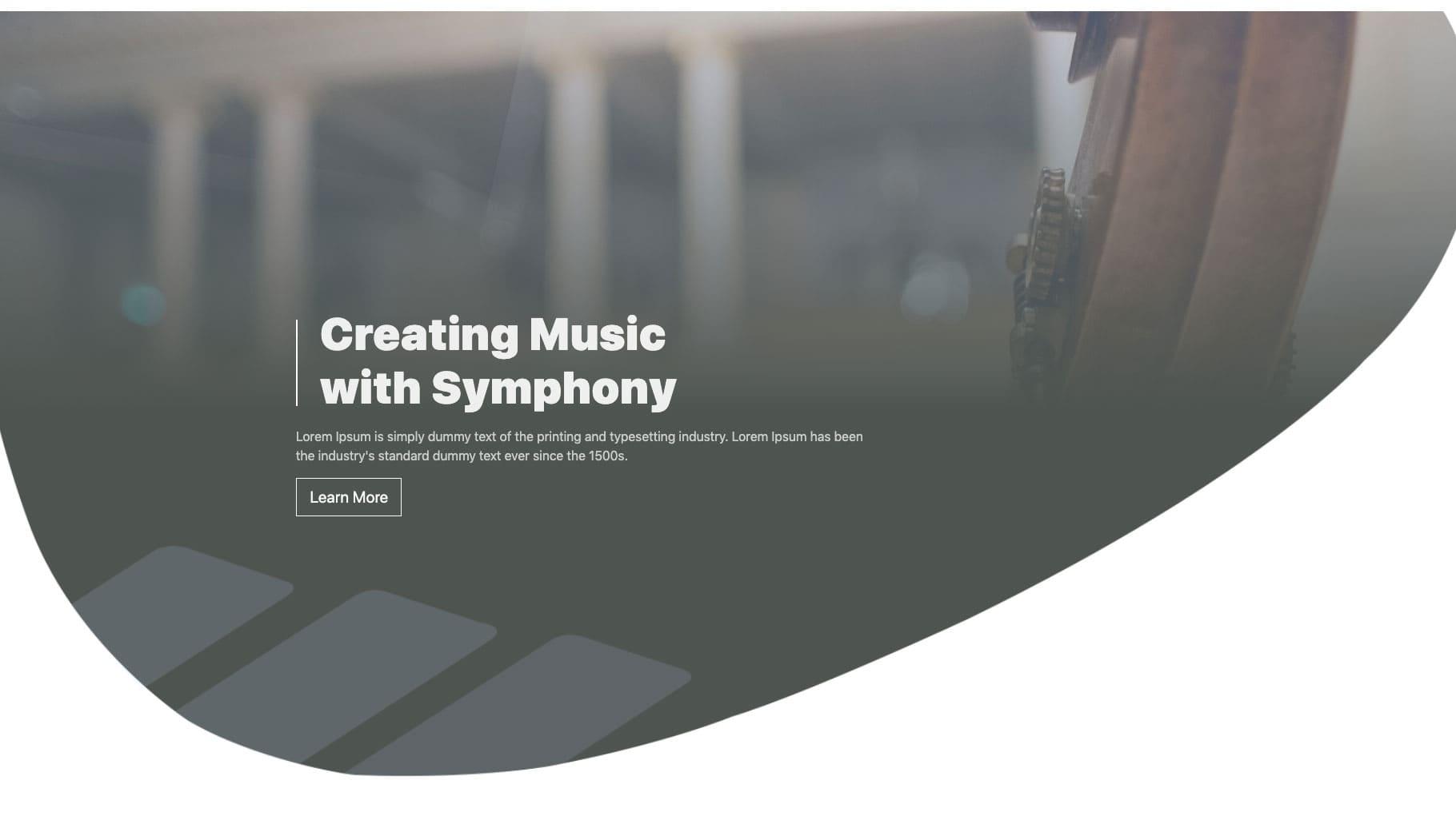 Bootstrap Fullscreen Header Design Example