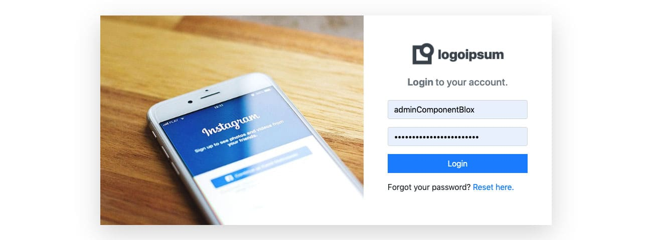Bootstrap 2 Column Login Design Example