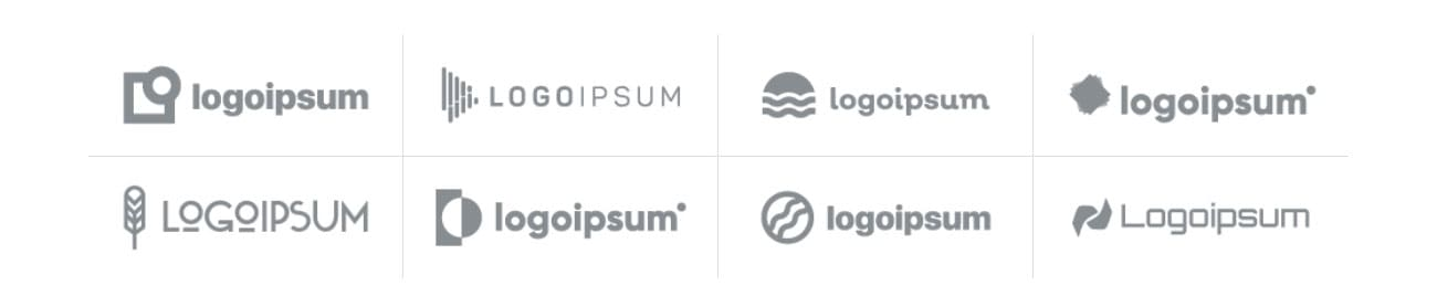 Bootstrap Logo Grid Design Example