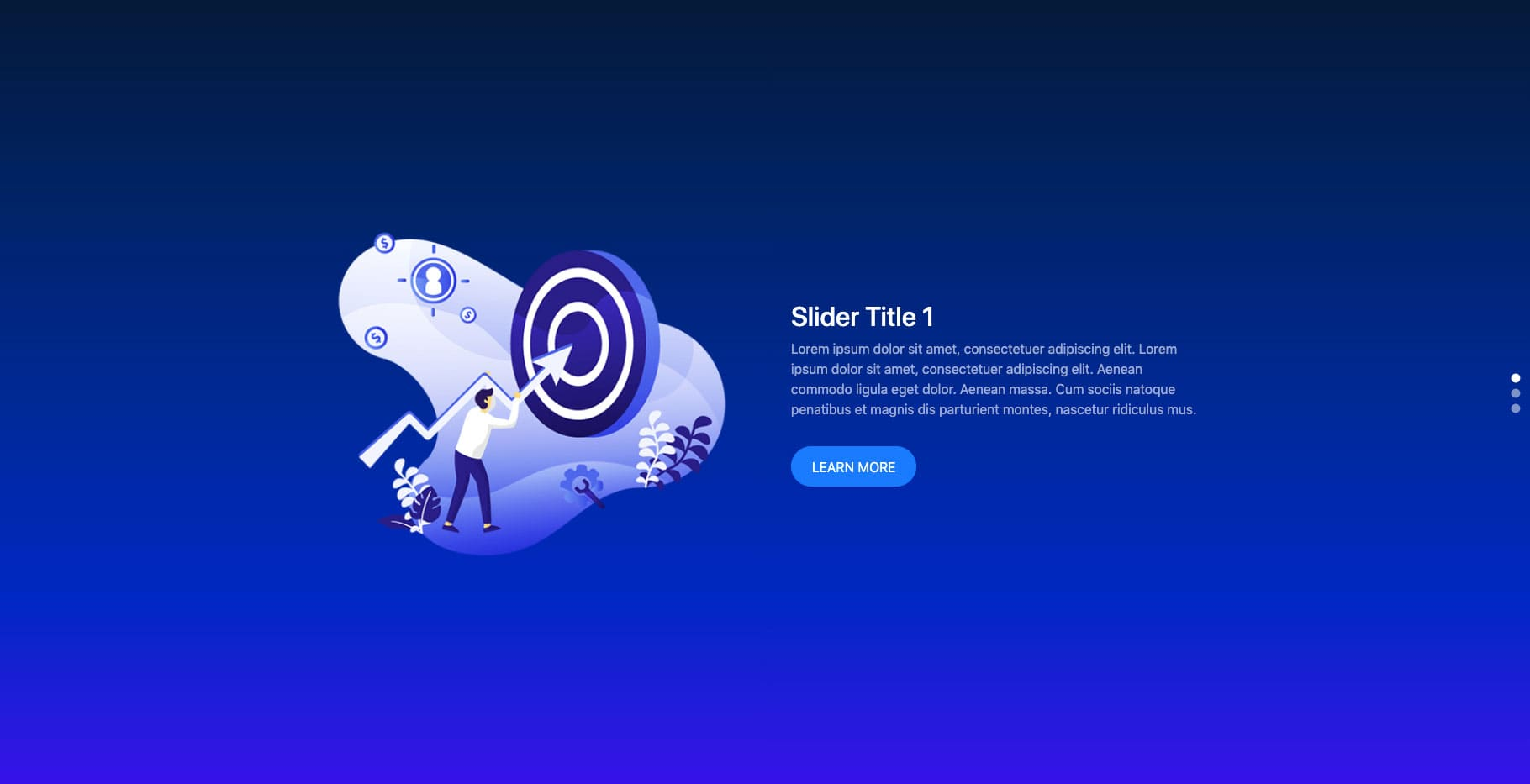 Bootstrap Slider Vertical Dots Example