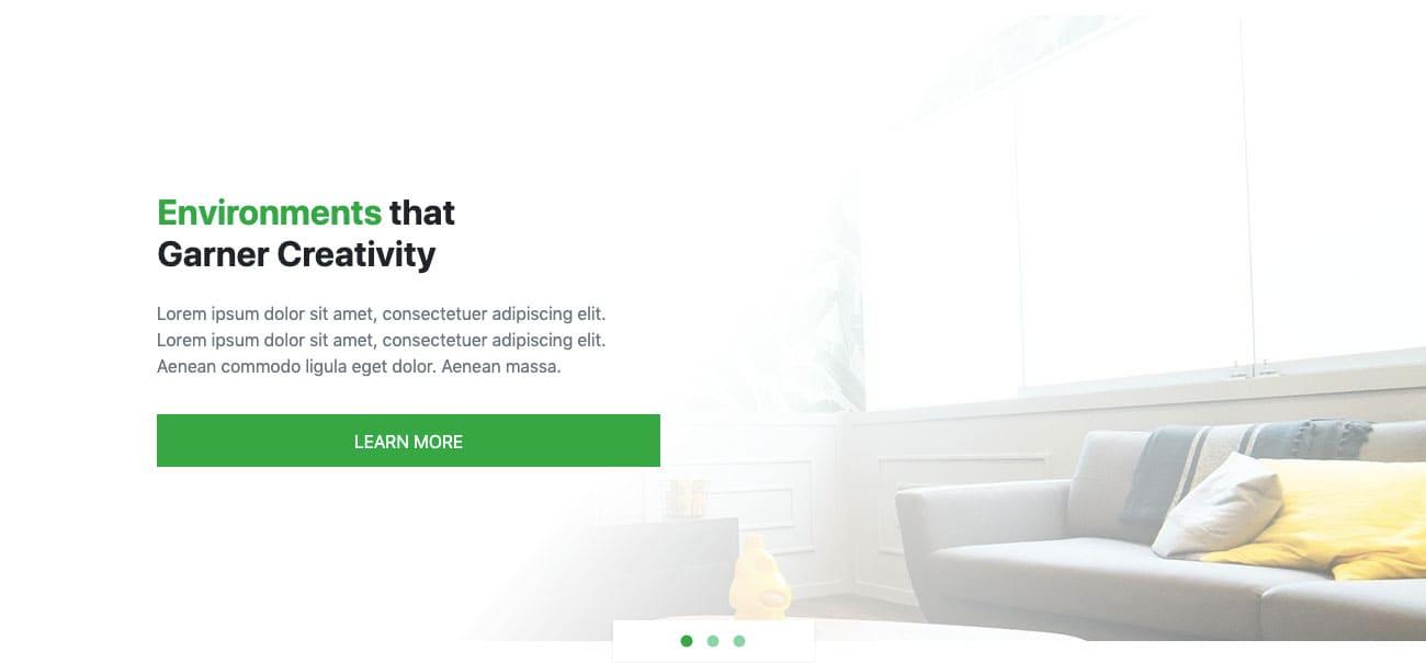 Bootstrap Full Screen Slider Design Example