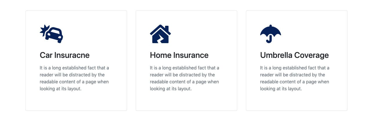 Bootstrap Blurbs Hover Effect Example