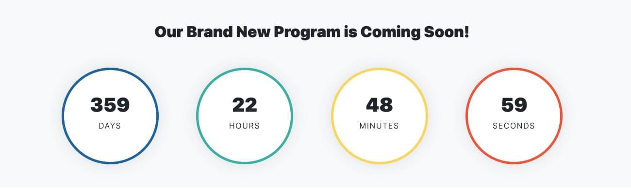 Bootstrap Countdown Blurbs